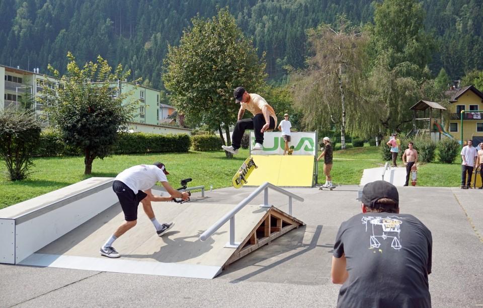 Afritz Skatepark - Film und Fotosession - Rider Sandro Müller - Fotografin Maria Altstätter - 2