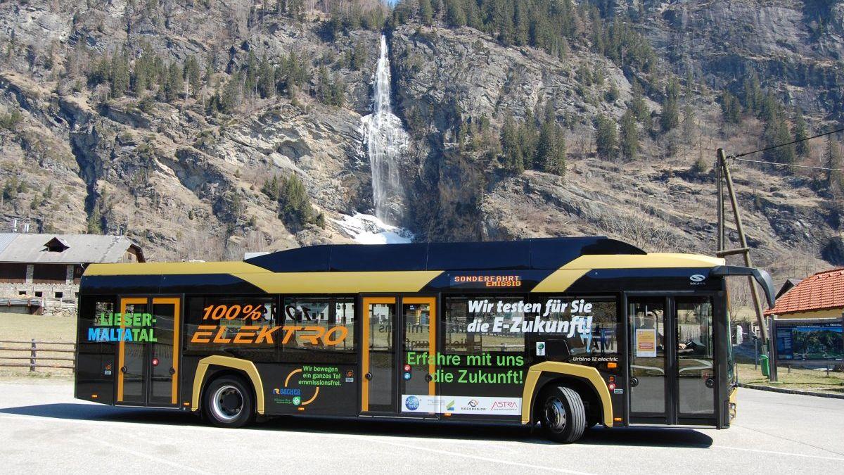 E-Bus Probebetrieb im Linienverkehr des Lieser- und Maltatals