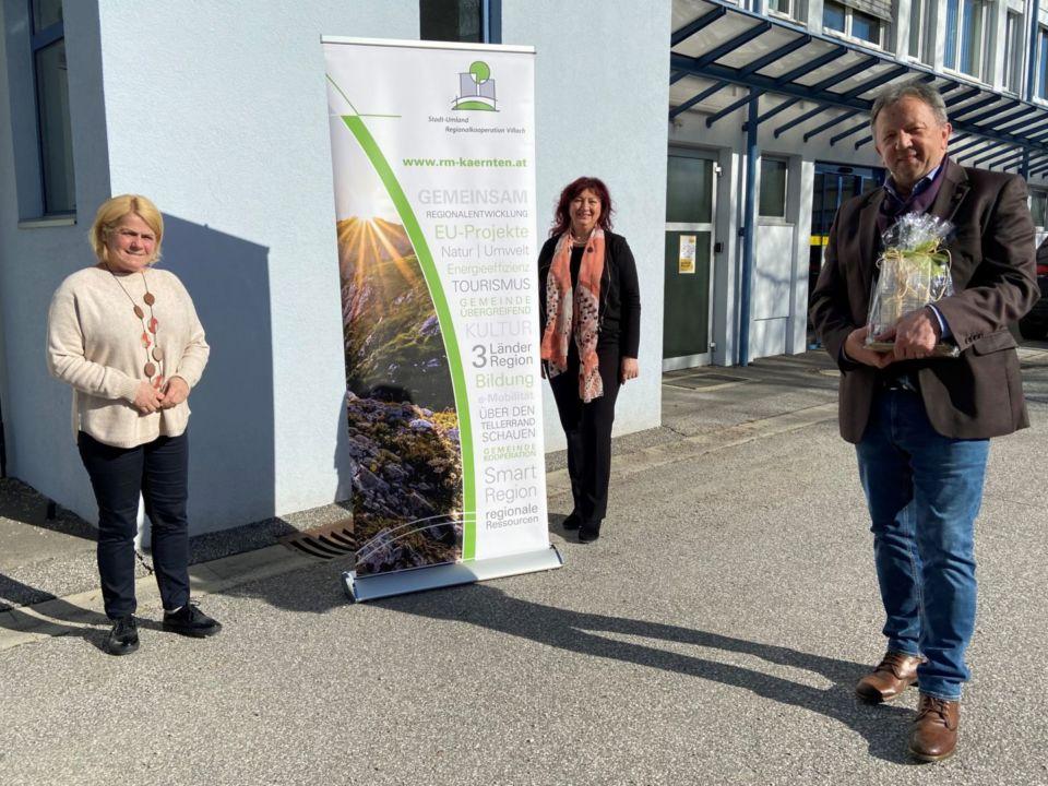 Die Regionalkooperation Villach bedankt sich bei Bgm. Erich KESSLER
